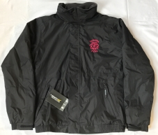 Yorkshire FYFC Coat available in Black with Cerise embroidered logo, or Navy Blue with Silver logo