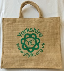 YFYFC Jute Bag available in Blue or Green