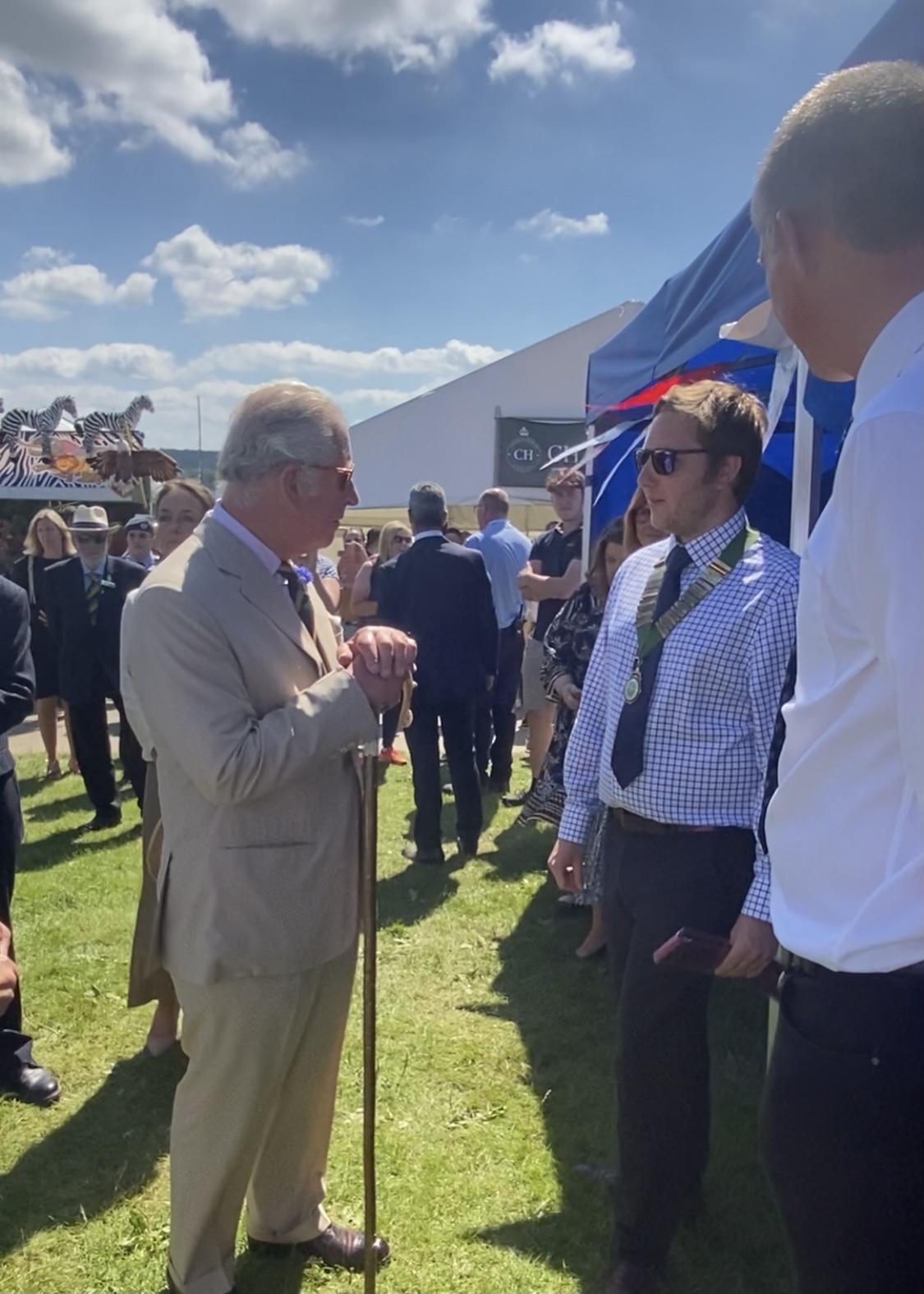 GYS 2021 Ed Bentley and HRH Prince Charles